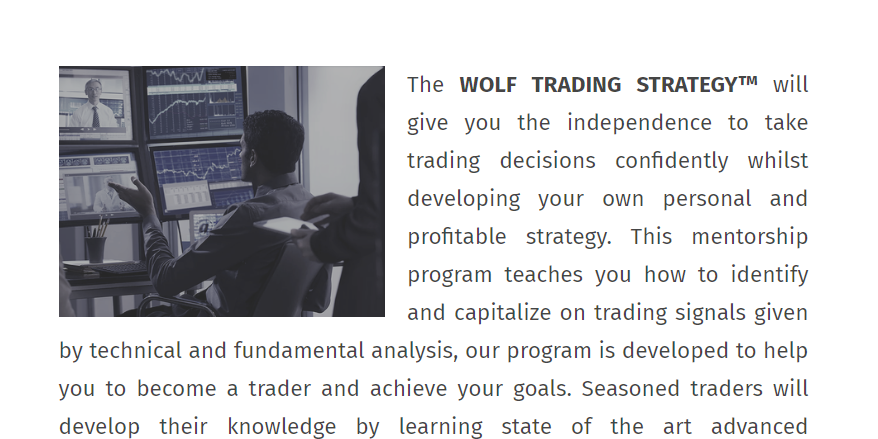 Wolf Mentorship Elite Trading Academy & Firm - XYZTraders