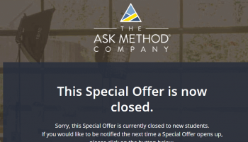 Ask Method Special Black Friday